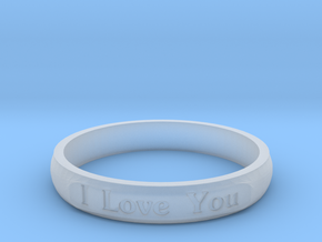 """Ring 'I Love You Inwards' - 16.5cm / 0.65"""" - Size  in Smooth Fine Detail Plastic"""