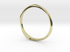 "Ring 'Curves' - 16.5cm / 0.65"" - Size 6 in 18k Gold"