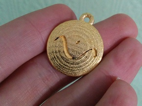 Chosen Pendant Version 1 in Polished Gold Steel