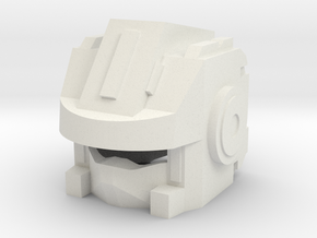Robohelmet: Shoots-a-lot in White Strong & Flexible