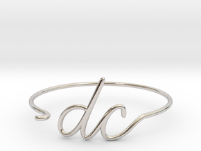 DC Wire Bracelet (Washington, D.C.) in Rhodium Plated Brass
