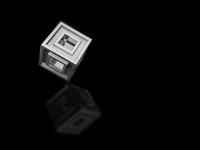 Square Bead in Polished Silver