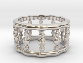 Designer COLUMN RING in Silver |  Gold |  Steel in Platinum