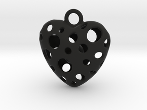 IN YOUR HEART in Black Natural Versatile Plastic