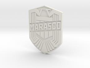 Marasco Dredd (custom) in White Natural Versatile Plastic