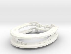 Horseshoe Puzzle in White Processed Versatile Plastic