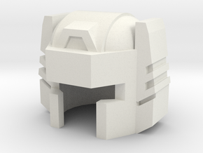 Robohelmet: Bullet Head v2 in White Natural Versatile Plastic