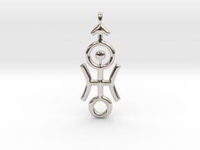DISTANT Planet Uranus jewelry necklace symbol. in Rhodium Plated Brass