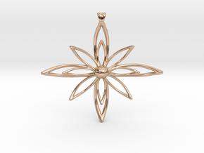 PETALIS Flower Petals design pendant in 14k Rose Gold Plated Brass