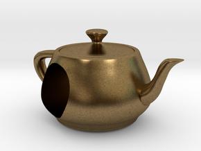 Utah Teapot European Charm Bead in Natural Bronze