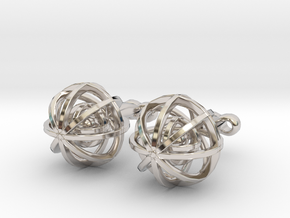 Ball In Balls CL X2 in Rhodium Plated
