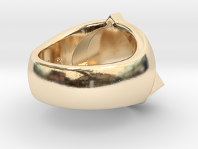 Saint Vitus Ring Size 14 in 14k Gold Plated Brass