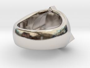 Saint Vitus Ring Size 14 in Rhodium Plated Brass