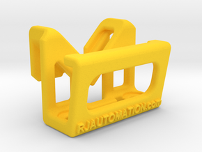 TeachPendantClipDiag_8mm_Heavy in Yellow Processed Versatile Plastic
