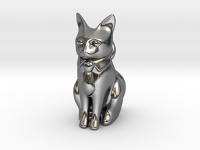 Business Cat in Polished Silver