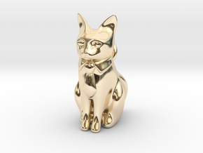 Business Cat in 14k Gold Plated Brass