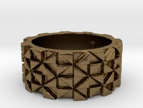 Futuristic Ring Size 4 in Natural Bronze