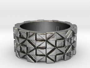Futuristic Ring Size 4 in Natural Silver