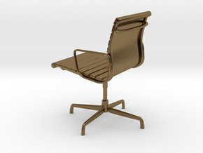 Aluminium Group Style Chair 1/12 Scale in Polished Bronze