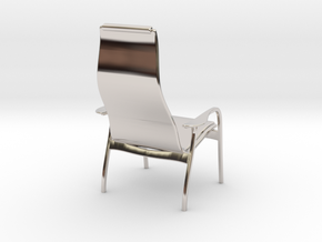 Lamino Style Chair 1/12 Scale in Rhodium Plated Brass