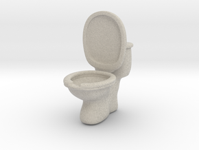 Toilet ashtray(removable tank cover) in Natural Sandstone