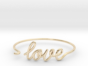 Love Wire Bracelet in 14k Gold Plated Brass