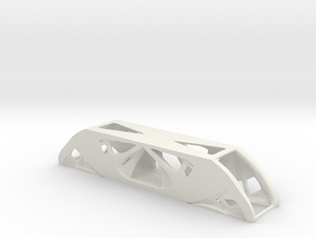 Topology Optimized Beam in White Natural Versatile Plastic