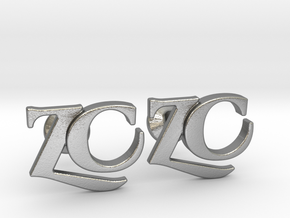 Monogram Cufflinks ZC in Natural Silver