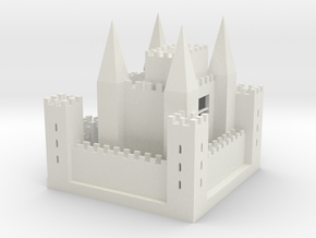Mideval Europe Castle in White Natural Versatile Plastic