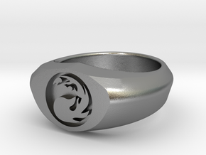 MTG Mountain Mana Ring (Size 7) in Natural Silver