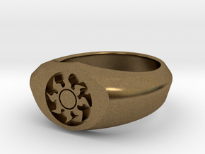 MTG Plains Mana Ring (Size 7) in Natural Bronze