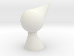 Ida practice head in White Natural Versatile Plastic