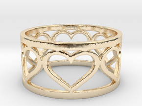 Caged Heart Ring V1 Ring Size 8 in 14K Yellow Gold