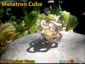 Mini Metatron Cube rounded in Stainless Steel