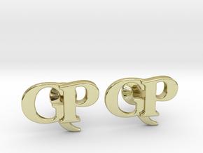 Monogram Cufflinks GP in 18k Gold Plated Brass