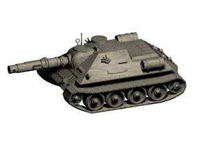 Ice Guards SU-122M Tank destroyer in White Strong & Flexible
