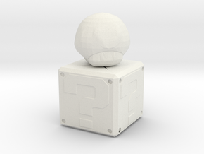 Mario Mushroom in White Natural Versatile Plastic