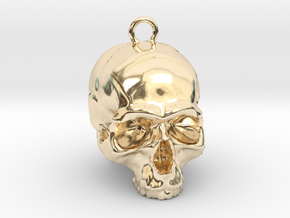 Skull Pendant 2 in 14K Yellow Gold