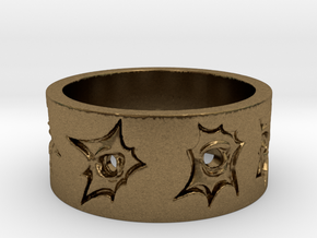 Outlaw Bullet Holes Ring Size 10 in Natural Bronze
