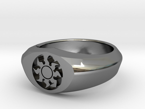 MTG Plains Mana Ring (Size 8 1/2) in Fine Detail Polished Silver
