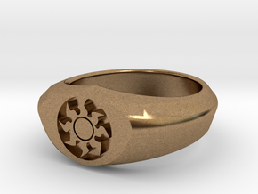 MTG Plains Mana Ring (Size 8 1/2) in Natural Brass