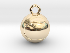 Tennis Ball in 14K Yellow Gold