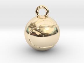 Tennis Ball in 14k Gold Plated Brass