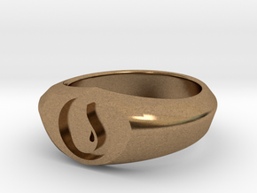 MTG Island Mana Ring (Size 9) in Natural Brass