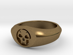 MTG Swamp Mana Ring (Size 10) in Natural Bronze