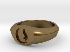 MTG Island Mana Ring (Size 11) in Natural Bronze