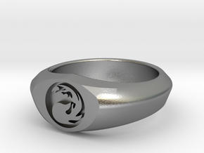MTG Mountain Mana Ring (Size 11) in Natural Silver