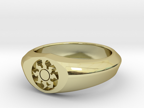 MTG Plains Mana Ring (Size 12) in 18k Gold Plated Brass