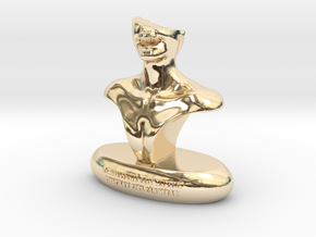 Smile  in 14k Gold Plated Brass