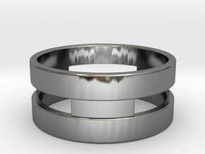 Ring g3 Size 6 - 16.51mm in Fine Detail Polished Silver